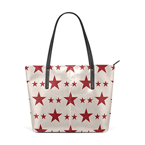 PU Shoulder Fashion Purses Women's Bags Leather Totes Handbag Top Patriotic Stars Handle TIZORAX tqO14n