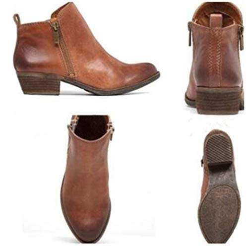Casuales Se Tal Mujeres Cortas oras Martin Boots Botas Gamuza pW8qH5cU5v