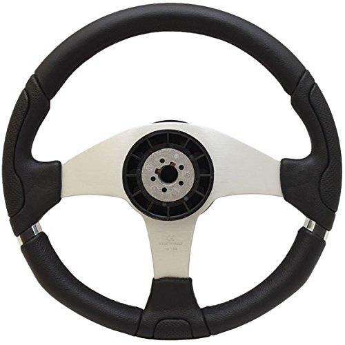Uflex Boat Steering Wheel Marettimo-B/S | 14 Inch Silver Black