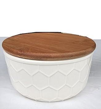 Vorratsdosen Keramik Landhaus runde vorratsdose creme shabby keramik teedose modern dose küche