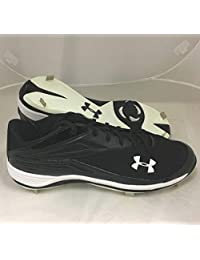 Under Armour New Mens Clean Up II Low Pro Baseball Cleats Black/White Sz 14 M