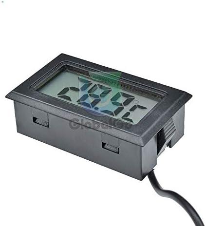 盛世汇众 TermómetroデジタルLCDセンサー・デ・温度medidor termostato reguladorテルマルcontrolador 1M、2M SONDAデケーブルTPM-10 FY-10 (色 : Black)