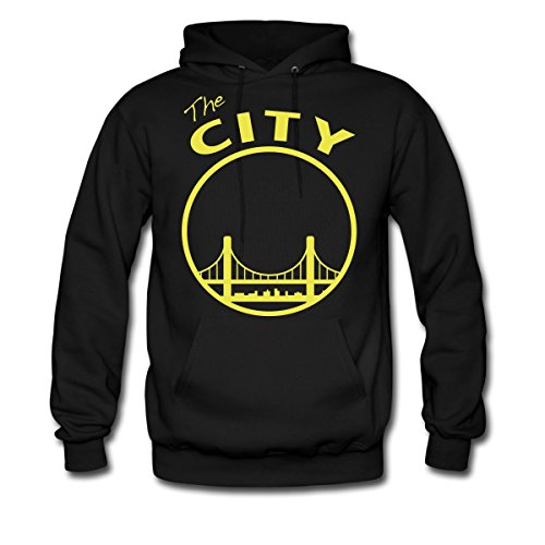 Spreadshirt San Francisco The City Silhouette Men's Hoodie, XL, black (Hoodie Silhouette Mens)