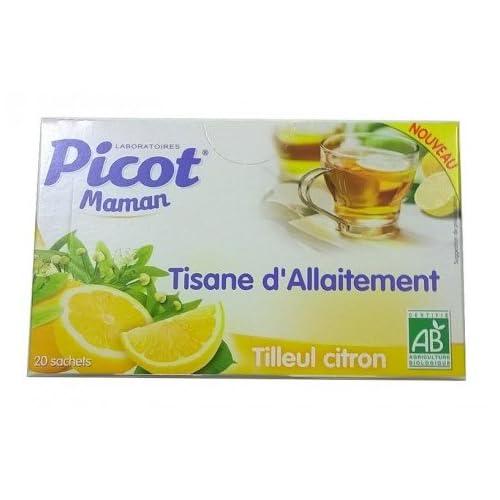 PICOT Maman Tisane allaitement TILLEUL CITRON 20 sachets 32g