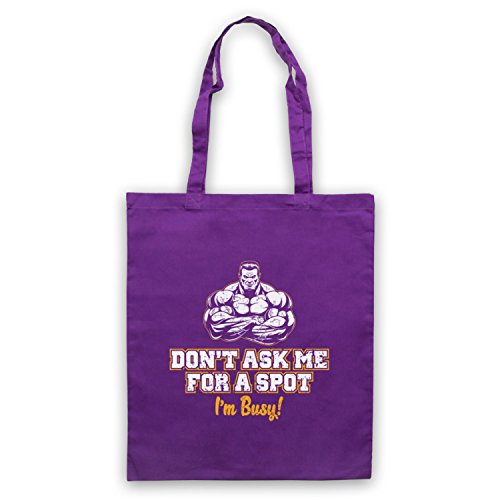 Bodybuilding Sac d'emballage Ask Don't Busy Slogan A I'm Me Violet Spot For Workout RUqfa6wx