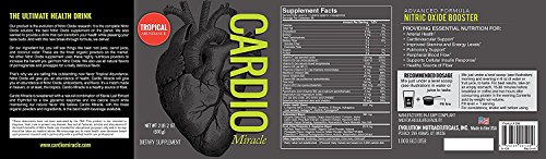 Cardio Miracle (TM) The Complete Nitric Oxide Solution Nutritional Heart Healthy L Arginine Drink Mix 90 Servings