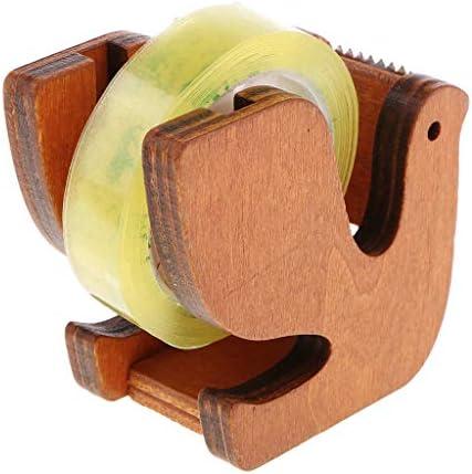 木製 テープディスペンサー テープカッター 付着力ロール ホールダー オフィス 文房具