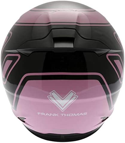 Frank Thomas FT36 Motorcycle Helmet Pink G1 J/&S S