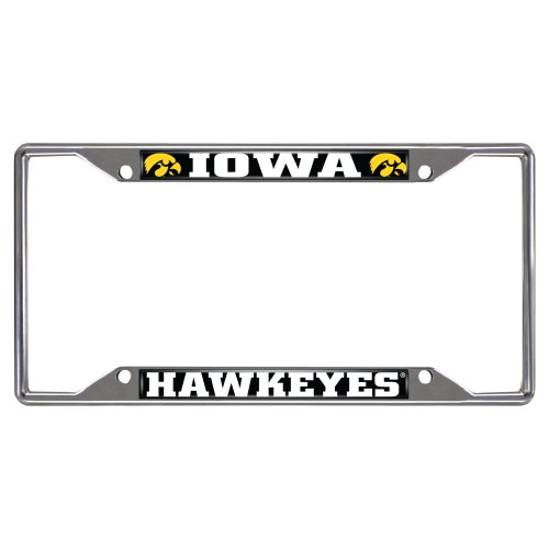 FANMATS  14904  NCAA University of Iowa Hawkeyes Chrome License Plate Frame University License Plate Frame