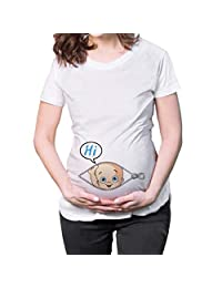 ManMan Maternity Top Short Sleeves Series Funny Pregnancy Tee Cute Pregnant T Shirts