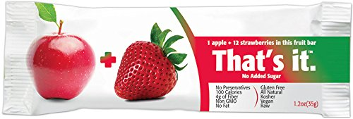 That's It Apple Strawberry Snack Bar Gluten Free 1.2 oz, Pack of 144 by That's It