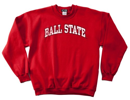 (NCAA Ball State Cardinals 50/50 Blended 8-Ounce Vintage Arch Crewneck Sweatshirt, Medium, Red)