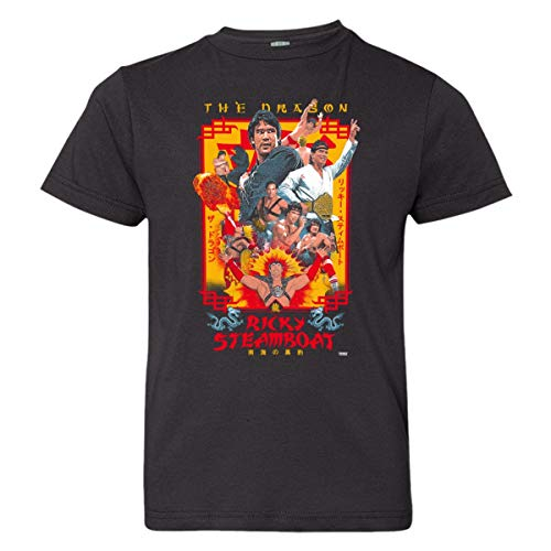 Youth Ricky Steamboat Enter The Dragon 2 HQ Wrestling Tee Shirt Black