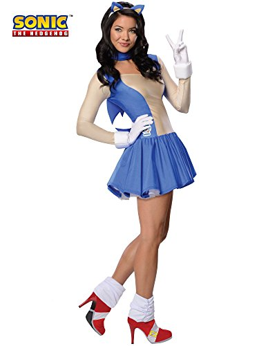 Secret Wishes  Costume Sonic The Hedgehog, Adult Dress and Accessories, Blue, Small - Sonic Hedgehog Halloween Costumes