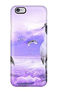 Hot Red Crowned Cranes Japan First Grade Tpu Phone Case For Iphone 6 Plus Case Cover