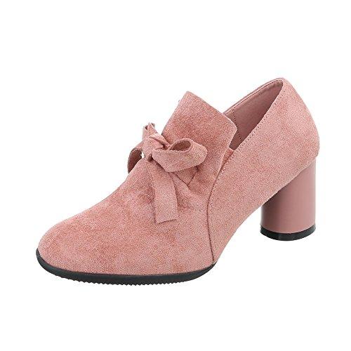 para Ital J mujer tobillo tacón Botines Zapatos Design al 16 Rosa Mini Botas wAqd8p4