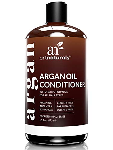Dry Hair Formula Moisturizing Shampoo - ArtNaturals Argan Oil Hair Conditioner  - (16 Fl Oz / 473ml) - Sulfate Free - Treatment for Damaged and Dry Hair - For All Hair Types - Safe for Color Treated Hair