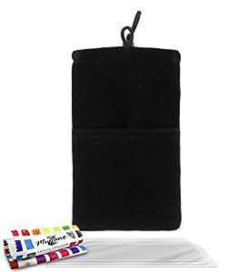 """Funda  LG L3 [""""Cocoon""""] [Negro] de MUZZANO + 3 Pelliculas de Pantalla """"UltraClear"""" + ESTILETE y PAÑO MUZZANO REGALADOS - La Protección Antigolpes ULTIMA, ELEGANTE Y DURADERA para su LG L3"""