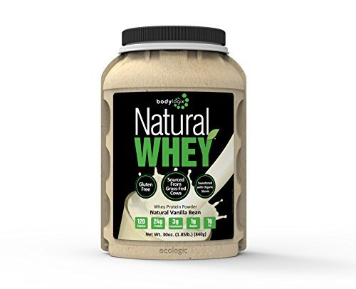 Bodylogix Natural Whey Protein Nutrition Shake, Natural Vanilla Bean, 1.85 Pound (Pack of 3) by Bodylogix