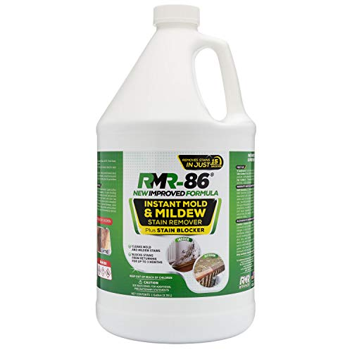 RMR-86 Instant Mold Stain and Mildew Stain Remover Plus Mold Stain Blocker (1 Gallon) (Best Cleaning Solution For Mold)