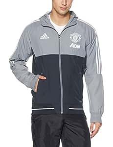 adidas MUFC PRE JKT Chaqueta Manchester United FC, Hombre, Gris (grinoc/Blanco), XL