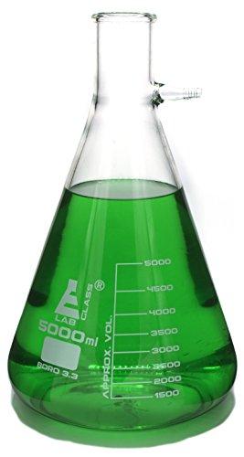 Extra Large 5000mL (5L) Borosilicate Filtering Flask ()