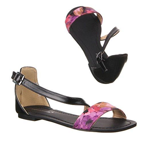 Ital-Design - Sandalias de vestir de Material Sintético para mujer Varios Colores - Rot Multi