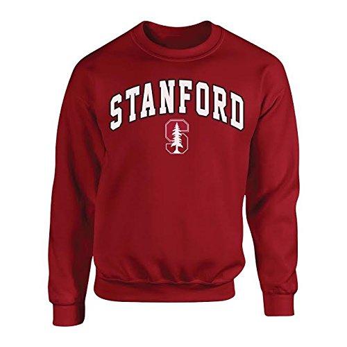 Elite Fan Shop Stanford Cardinals Crewneck Sweatshirt Arch Cardinal - XL