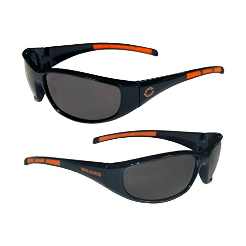 Purchadise NFL 3-Dot Wrap Sunglasses (Chicago Bears)