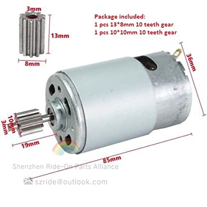 RS-550 Motor 12 volt DC 18k RPM High Torque Drill Robot Saw Electric 6-14.4 v