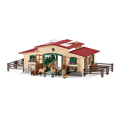 Schleich North America Schleich Stable with Horses & Accessories Toy by Schleich