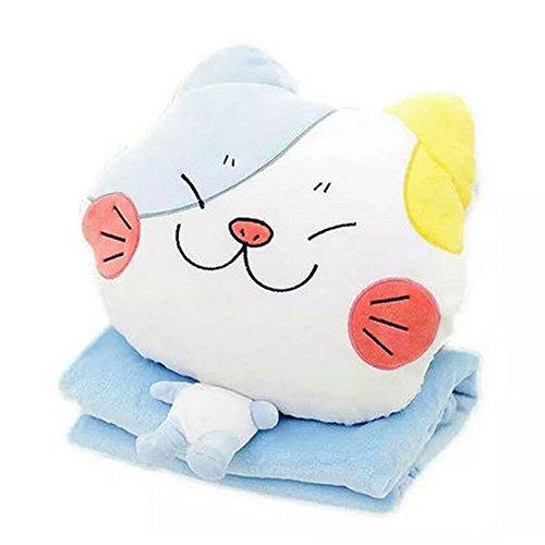 Alpacasso 4 in 1 Cute Cartoon Plush Stuffed Animal Toys Throw Pillow Blanket Set with Hand Warmer Design. (E)