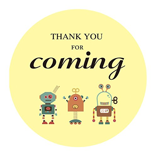 MAGJUCHE Robots Thank You Stickers, Boy or Girl Robot Themed Birthday Party Favor Sticker Labels, 2 Inch, 40-Pack by MAGJUCHE (Image #4)