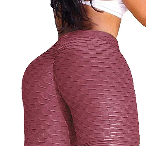 Price comparison product image kemilove Women's Yoga Pants High Waist Active Workout Leggings for Running Sports Fitness Gym Hot Pink