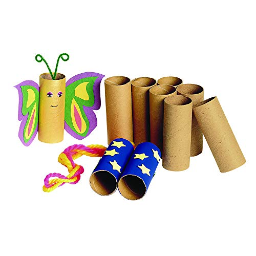 Colorations Sturdy Recycled Craft Rolls Craft Supplies for Kids Arts and Crafts (Pack of 24) -