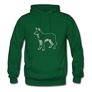 Ebolam X-large Styling Green Sweatshirts - White Shepherd Printed,women