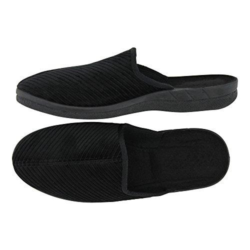brandsseller - Zapatillas de estar por casa de Material Sintético para hombre negro