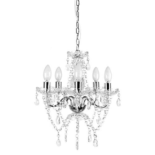 - Tadpoles 5 Bulb Genuine Grand Chandelier, Clear Crystal