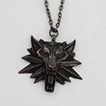 The Witcher Geralt of Rivia Medallion Wolf Head Necklace the Witcher Medallion Inspired By the Game of Wolf Head for Necklace From Geralt of Rivia the Witcher Game School Epic