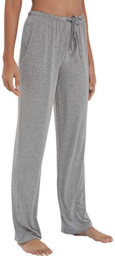 GYS Women's Bamboo Sleep Pants, Large, Heather Grey