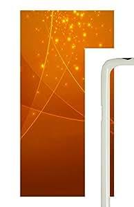 Samsung Galaxy S5 Patterns Orange Swirl PC Custom Samsung Galaxy S5 Case Cover White
