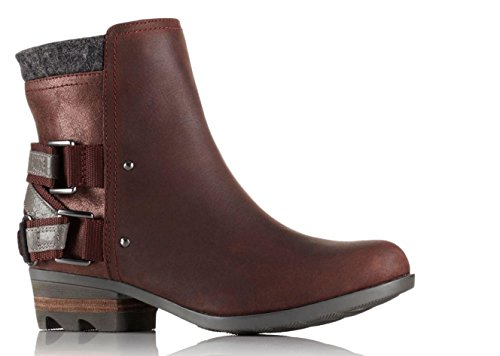 Lolla Boots Waterproof Leather SOREL Black Redwood 9 Womens vIq5Hwn7