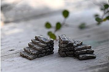 Ruikey Miniatur-Steinleiter als Dekoration f/ür Mikro-Landschaft als Wohndekor kreatives Ornament f/ür Ihren Garten f/ür Bastel-Projekte oder als Geschenk Style 2