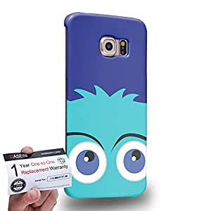 Case88 [Samsung Galaxy S6 Edge] 3D impresa Carcasa/Funda dura para & Tarjeta de garantía - Art Drawing Fashion Aqua Fuzzballs