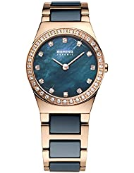 BERING Time 32426-767 Womens Ceramic Collection Watch with Stainless steel Band and scratch resistant sapphire...