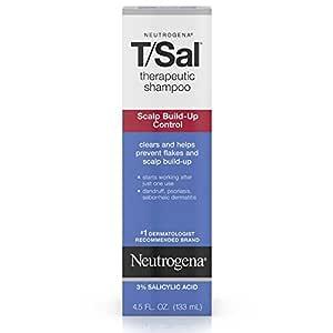 Neutrogena T/Sal Therapeutic Shampoo for Scalp Build-Up Control with Salicylic Acid, Scalp Treatment for Dandruff, Scalp Psoriasis & Seborrheic Dermatitis Relief, 4.5 fl. oz (Pack of 2)