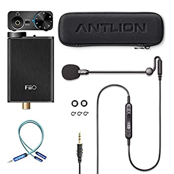 Image of Amps Antlion Audio ModMic Uni with Mute Switch Bundle with FiiO E10K Black USB DAC and Headphone Amplifier, and Blucoil Y Splitter for Audio, Mic