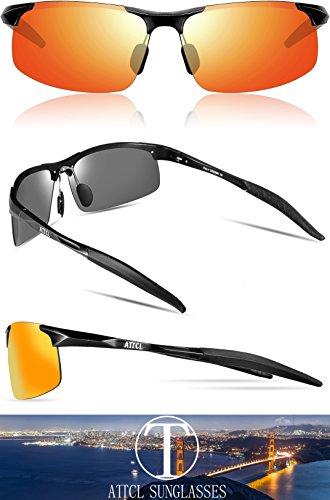 Black Da Rosso Light Frame Attcl Guidare Occhiali Metal Uomo Uomini Gli Super 8177 Al Per Sole Polarizzati mg aBx4BTw