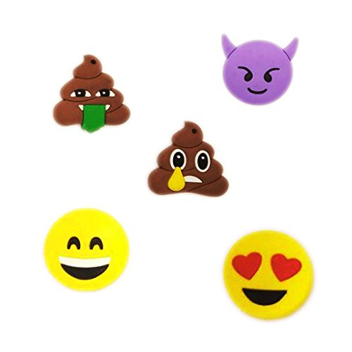 15-Pack Emoji Refrigerator Magnets?3D Funny Cute