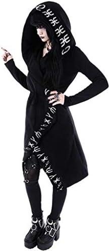 Gothic Punk Hexe Hoodie Kapuzenpullover Mantel  Jacke Sweatshirt  Pulli Tops